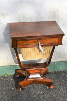 Rosewood sewing table