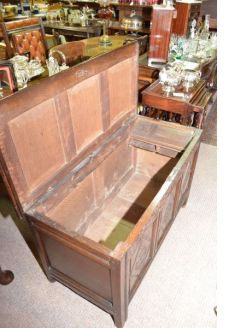 19th century oak coffer/chest