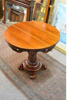 Mahogany circular table
