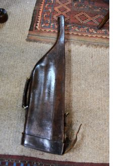 Old leather gun case/holder
