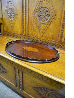 Edwardian mahogany inlaid tray