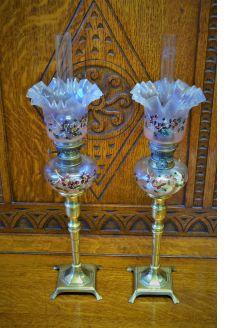 Pair of peg lamps