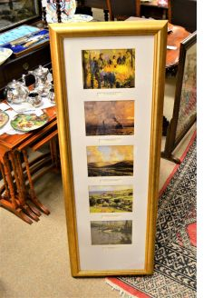 Selection of J.H.Craig framed prints