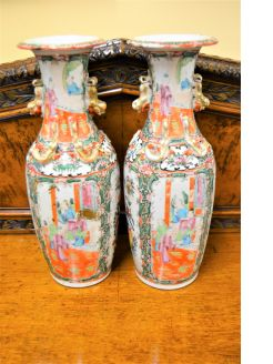 Pair of 19th century chinese Cantonese vases