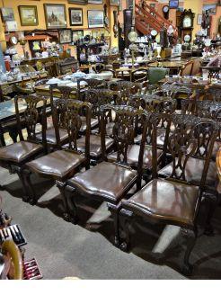 Set twelve mahogany chairs