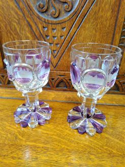 Pair of bohemian goblets , circa 1900
