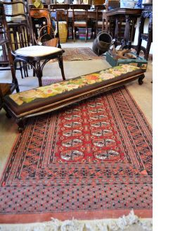 Victorian mahogany fender stool