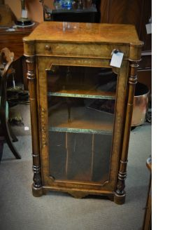 Victorian walnut music cabinet