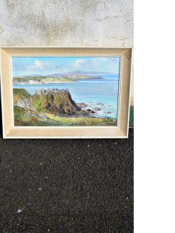 Framed oil on canvas by local artist rowland hill