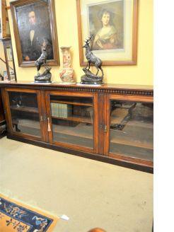 Edwardian mahogany floor bookcase