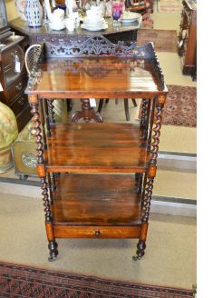 Victorian rosewood wot-not