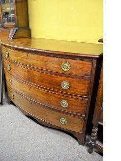 Georgian mahogany dressing chest