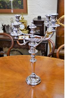 Victorian silver plated candelabra