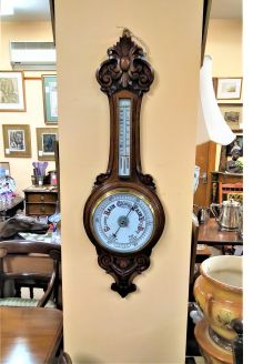 Edwardian oak cased barometer