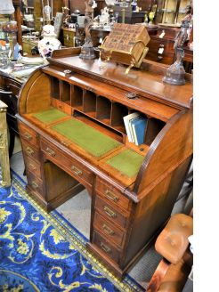 Victorian roll top desk