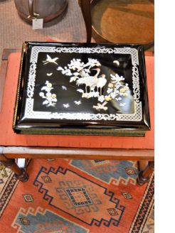 Old chinese lacquered photo album