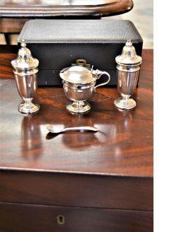 Silver condiment set