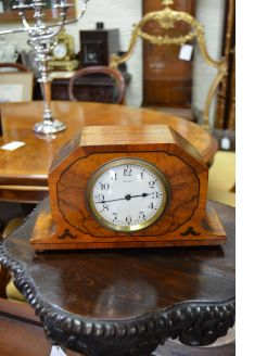 Walnut 1930s mantle clock
