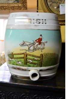 Irish whiskey porcelain flask