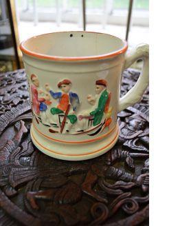 Victorian frog mug