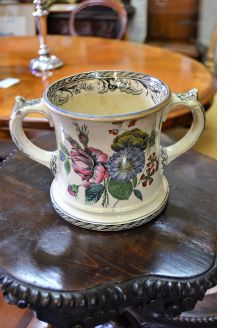 Victorian staffordshire loving cup