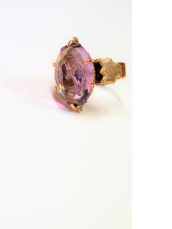 Antique gold & amethyst masonic ring