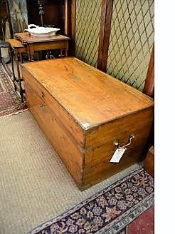 19th century camphor wood trunk/chest