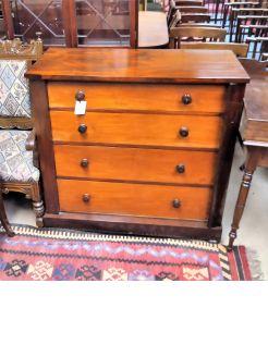 Victorian mahogany chest