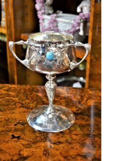 Arts & crafts silver bowl