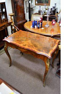 Victorian burr-walnut table