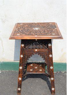 Moorish carved table