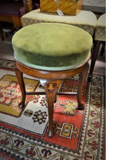 Victorian mahogany stool with inlay