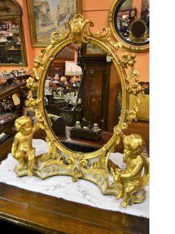 Gilt framed dressing mirror