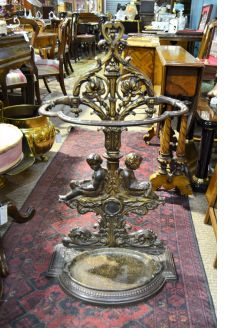 Cast iron stick / umbrella stand