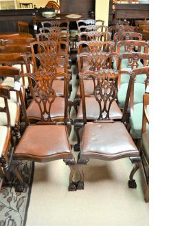 Set twelve mahogany chairs