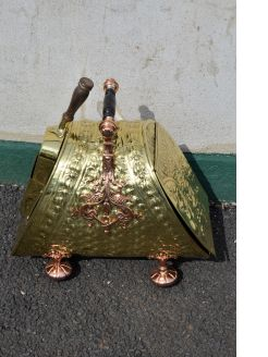 Victorian copper & brass coal scuttle
