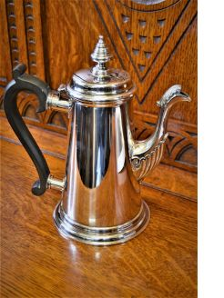 Irish silver coffee pot