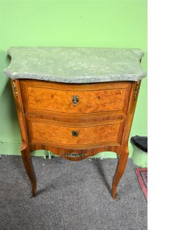 Marble top pedestal / chest
