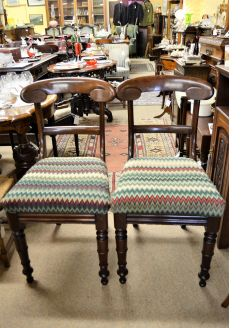 Set of twelve victorian mahogany dining chairs