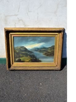 Gilt framed victorian oil painting