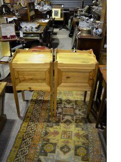 Pair of oak pedestals