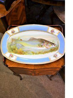 Porcelain fish platter