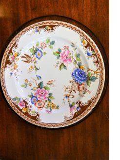 First period belleek plate