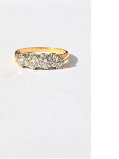 18ct gold four stone diamond ring