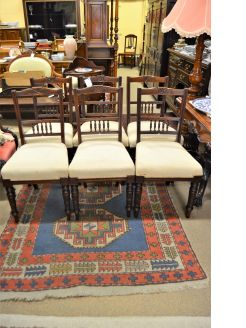 Set of four edwardian mahogany chairs