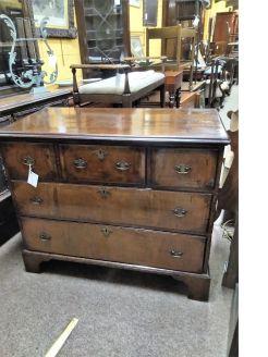 18th century walnut chest