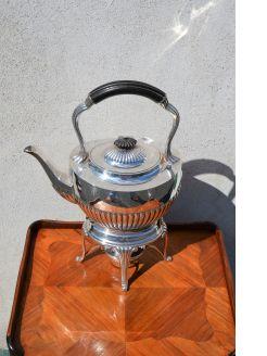 EPNS tea kettle on stand