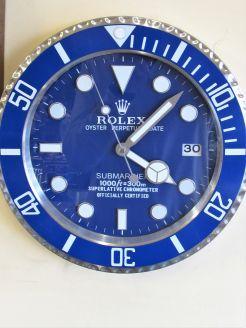 Rolex style wall display clock