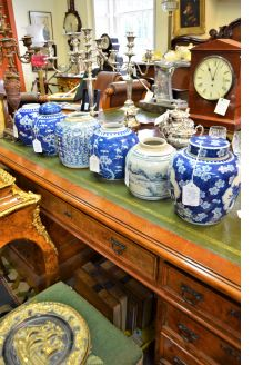 Selection of various chinese ginger jars available
