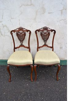 Pair of victorian mahogany occasional chairs